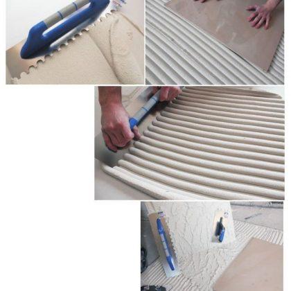 Инструменти за лепене на плочки