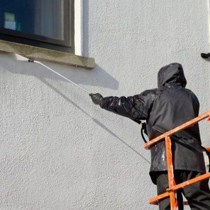 почистване на фасадата