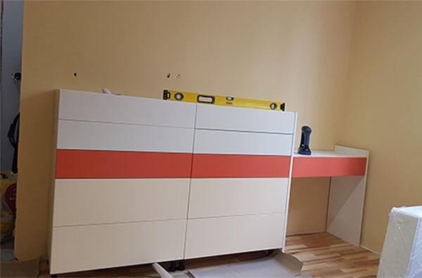 Монтаж на мебели поръчково обзавеждане